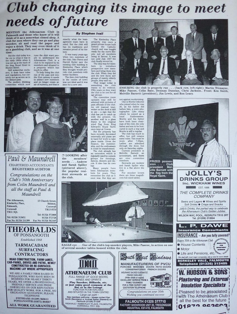Athenaeum Club 50 Year Packet Article
